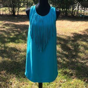 Sugarlips boho tassel front midi dress, sleeveless